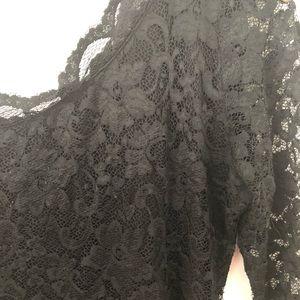 Black lace asymmetrical dress